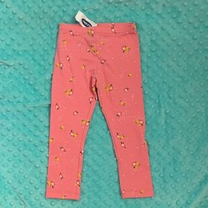 NWT Adorable Old navy leggings with fllowers